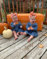 twins in autumn